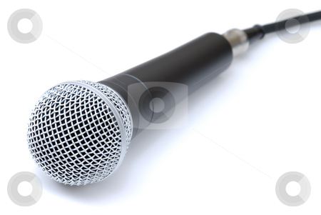 Microphone stock photo, Vocal / Recording Microphone on an Isolated Background by Brian Shephard