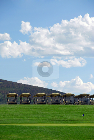 Golf carts stock photo,  by Brian Shephard
