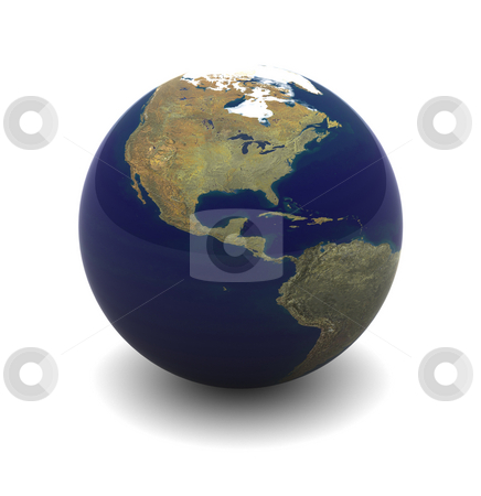 Planet Earth stock photo, 3D Rendering of Planet Earth on an Isolated Background by Brian Shephard