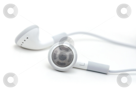 Headphones stock photo, Music Headphones on an Isolated White Background by Brian Shephard