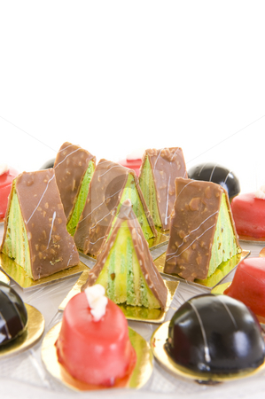 Colorful confectionery stock photo, A variety of colorful confectionery sweets on a white background. by Nicolaas Traut
