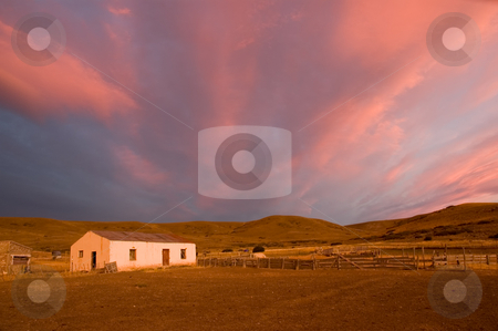 Estancia in Patagonia, Argentina. stock photo, Estancia in Patagonia, Argentina. by Pablo Caridad