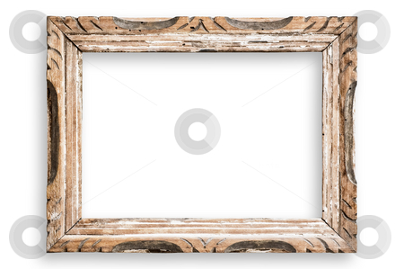 Vintage picture frame, clipping path. stock photo, Vintage picture frame, blank, with clipping path. by Pablo Caridad