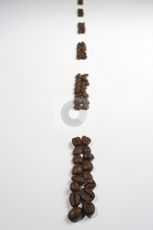 Coffee Bean Highway stock photo, Lines of espresso coffee beans arranged to make a highway stretching into the distance by Steve Smith