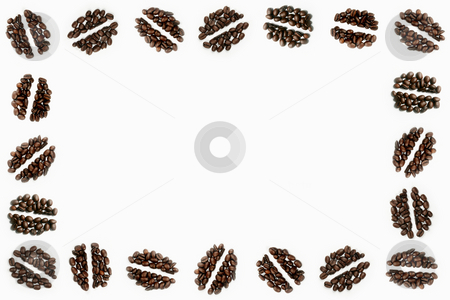 Coffee Bean Motifs stock photo, An arrangement of 5 coffee bean motifs by Steve Smith