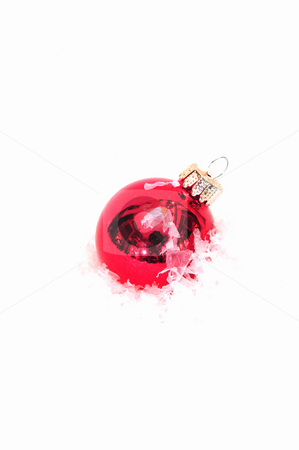 Red Christmas Tree Ornament stock photo, Red Christmas Tree Ornament by Lynn Bendickson
