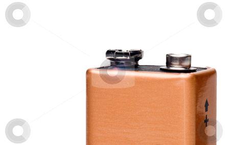 9 Volt Battery stock photo, A disposable or rechargeable 9 volt battery. by Robert Byron