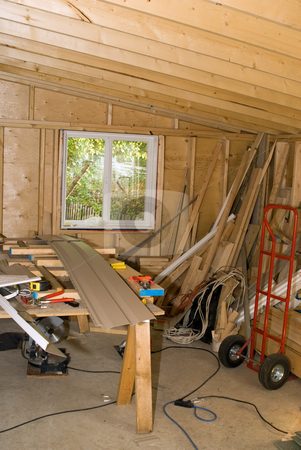 Remodelling stock photo, Interior view of a home being remodelled by Richard Nelson