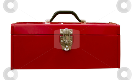 Red Tool Box stock photo, Red tool box used but still maintains its luster. by John McLaird