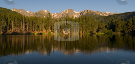 Rocky Mountain Morning stock photo, Early morning at Sprague Lake - Rocky Mountain National Park by John McLaird