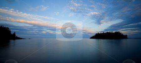 Northshore Dusk stock photo, The North shore of Lake Superior at Dusk. by John McLaird