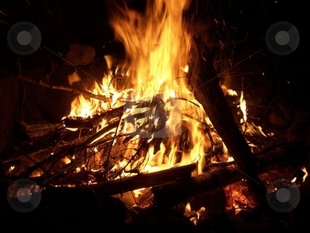 Campfire stock photo, A campfire by Jeffrey Newell