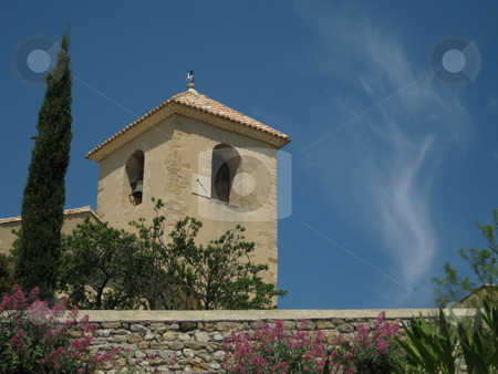 Bell tower in Provence, France stock photo, Bell tower in Vaison La Romanie, Provence, France by Waldy Wisniewski