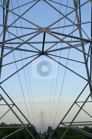 Electric Power Lines stock photo, Towers and power lines. by Great Divide Photography