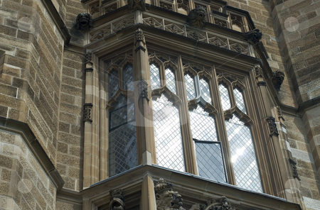 Gothic revival window stock photo, Gothic revival architeture at sydney university, australia by Stephen Gibson