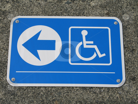 Handicap access sign stock photo, Handicap access sign by Mbudley Mbudley