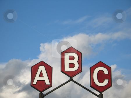 A b c sign stock photo, A b c sign by Mbudley Mbudley