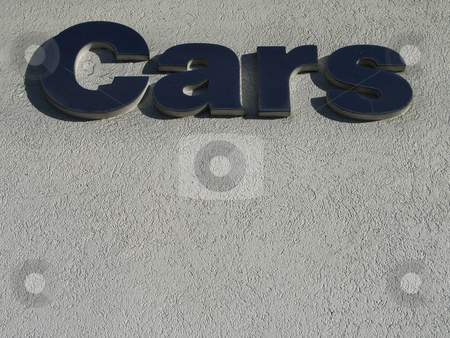 Blue cars sign stock photo, Blue cars sign by Mbudley Mbudley