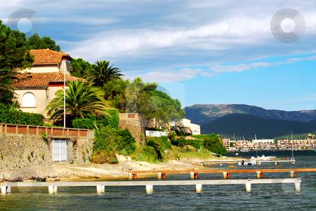 Mediterranean coast of French Riviera stock photo, View of Mediterranean coast of French Riviera by Elena Elisseeva
