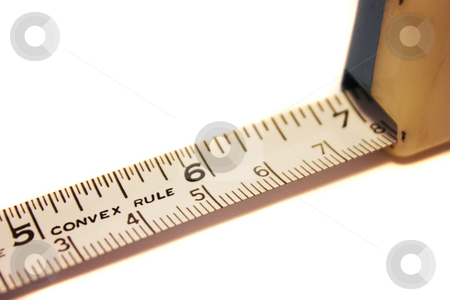 Tape Measure stock photo, Tape measure on white background by Julie Bentz