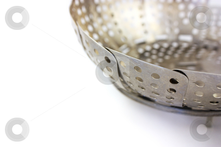 Vegetable Steamer stock photo, Steamer on a white background by Julie Bentz