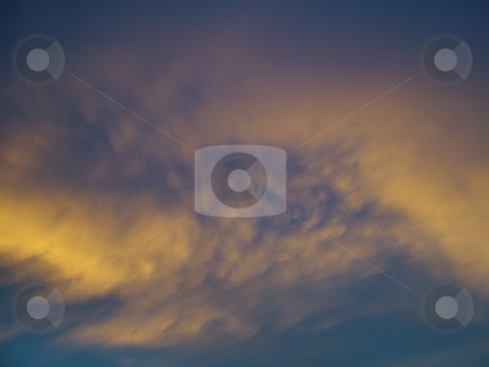 Colors After the Storm 2 stock photo, Blue sky and yellow clouds after the storm by Krystal McCammon