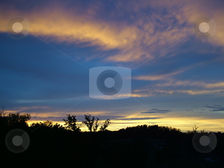 Colors After the Storm 4 stock photo, Blue sky with yellow clouds after the storm by Krystal McCammon