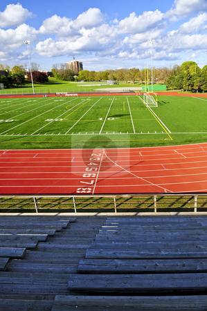Stadium stock photo, Wide angle view of public outdoor athletic stadium by Elena Elisseeva