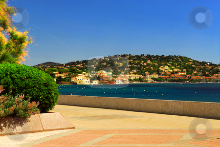Mediterranean coast of French Riviera stock photo, View of Mediterranean coast of French Riviera by Elena Elisseeva