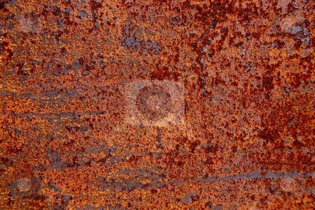 Rusty metal background stock photo, Rusty metal abstract background by Elena Elisseeva