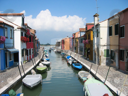Italy canal stock photo, Nice city scape with canal view by Karin Claus