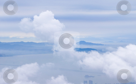 Dream landscape of clouds  stock photo, Dream landscape of clouds all in the same color by Karin Claus