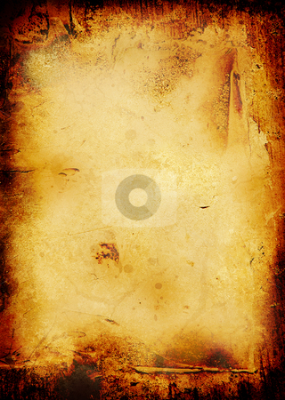 Burnt scroll stock photo, Burnt scroll background with room to add your own copy by Michael Travers