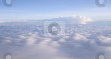 Dreaming clouds stock photo, Arial vieuw from airplane to a dreaming cloudscape by Karin Claus