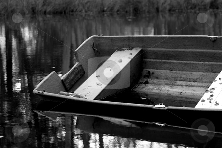 Rowing boat stock photo, Plastic row boat by Arve Bettum