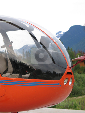Orange helicopter stock photo, Orange helicopter by Mbudley Mbudley