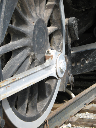 Old wheel train stock photo, Old wheel train by Mbudley Mbudley