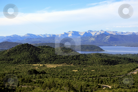 San Carlos de Bariloche stock photo, San Carlos de Bariloche and Nahuel Huapi Lake by Rafael Franceschini