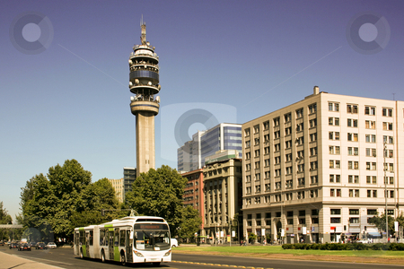 Santiago fo Chile stock photo, Office buildings in Santiago, Chile by Rafael Franceschini