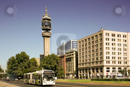 Santiago fo Chile stock photo, Office buildings in Santiago, Chile by Rafael Franceschini