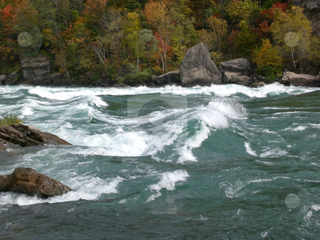 Niagara river rapids stock photo,  by J.G. Byers