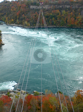 Cables over whirlpools stock photo,  by J.G. Byers