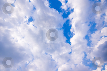 Clouds   stock photo, Air, background, blue, clear, clouds, cloudscape, cloudy, day, environment, fluffy, idyllic, landscape, nature, outdoors, overcast, scene, scenic, sky, texture, weather, white by Karin Claus