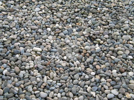Small pebbles background stock photo, Small pebbles background by Mbudley Mbudley