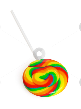 Lollipops stock photo, Colorfull sugar lollipops isolated on white background by Francesco Perre