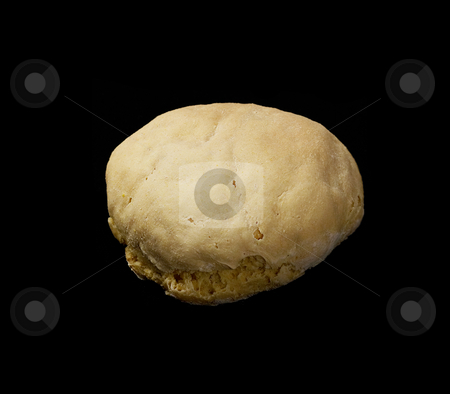Bread  loaf stock photo, Homemade fresh bread  loaf on black background by Francesco Perre