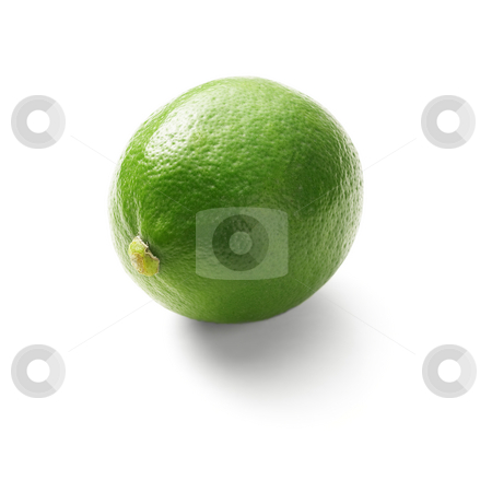 Lime stock photo, Green fresh lime isolated over white background by Francesco Perre