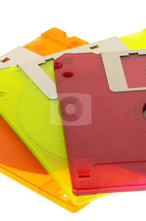 Coulorfull floppy disk stock photo, Coulorfull plastic floppy disk on white background by Francesco Perre