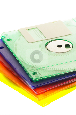 Coulorfull floppy disk stock photo, Coulorfull plastic floppy disk on white background by Francesco Perre