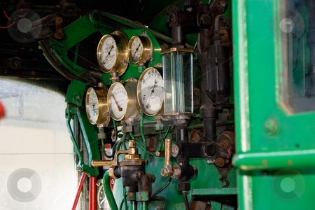 Train Cabin stock photo, Dials and gauges in a train cabin by Nicholas Rjabow